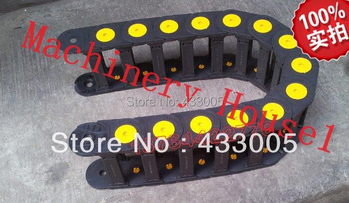цена на 25x77mm Bridge open Cable Drag Chain Towline / Nylon towline / tanks chain / cable towline / engineering towline