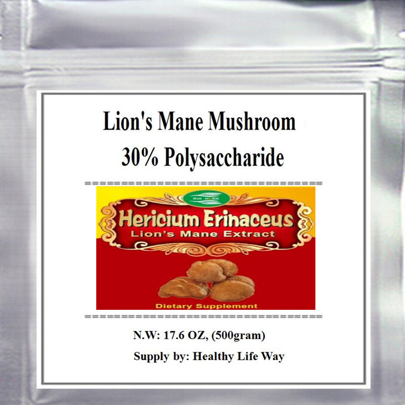 17.6oz, 500gram Lion's Mane Mushroom/ Hericium Erinaceus Extract 30% Polysaccharide free shipping стоимость