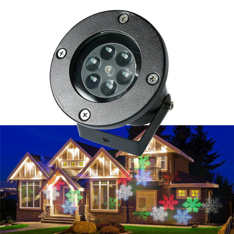 ФОТО RGBW/ WHITE LED Snow Sparkling Landscape Projector Outdoor Garden Tree House Wall Decoration Lamp Holiday Decor Lights
