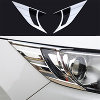 ABAIWAI Car Headlights Decoration Stickers For Nissan Qashqai Head Lights Frame Chrome Auto Accessory Car Covers 2014 2015 2016