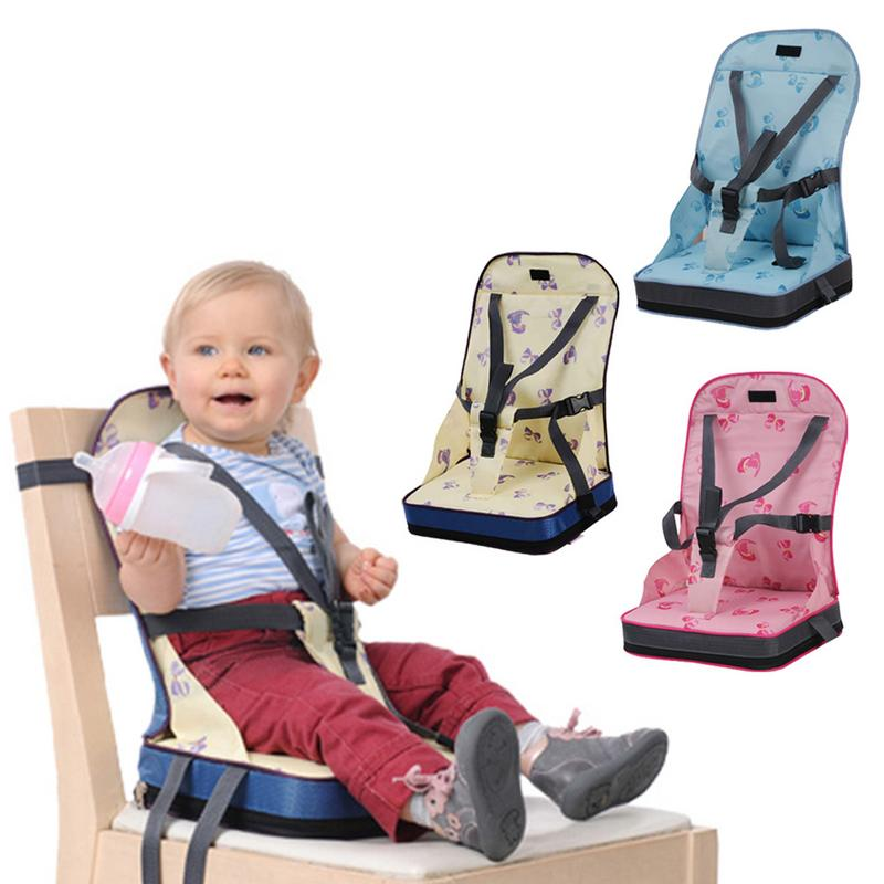 1-Baby Dining Chair Bag Seat Infant Portable Highchair Seat Bebes Travel Foldable Safety Belt Seat Feeding High Chair Cushion Mat