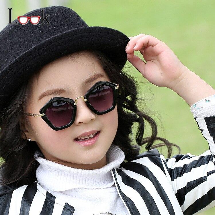 Fashion 2016 Kids Sunglasses Children Brand Irregular Diamond Sun Glasses UV400 Baby Vintage Eyeglasses Oculos Infantil De Sol