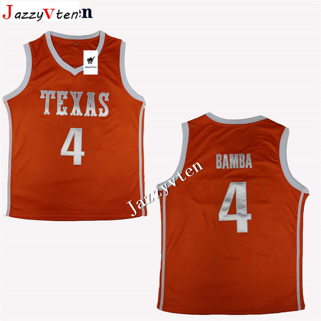 new concept 0781e 43b3e Aliexpress.com : Buy Top quality new #4 Mohamed Bamba Texas orange mens  basketball jersey Embroidery Stitches from Reliable Basketball Jerseys ...
