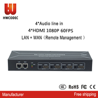 HWCODEC rtmp 4 канала hdmi к ip аудио видео ip поставщика кодировщик h264 hdmi h.264 full hd1080P потоковое телевидение цифровой кодировщик