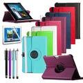 2017 360 graus de giro stand case para samsung galaxy note 10.1 n8000 n8010 n8020 tablet case protetora film + stylus livre