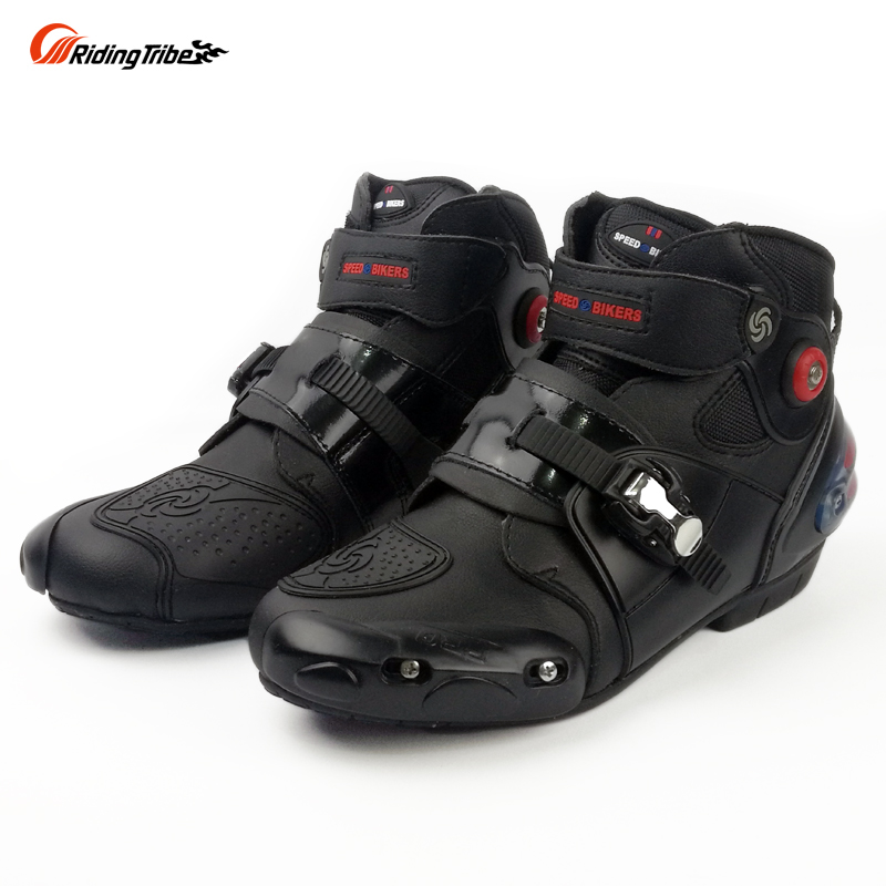 Riding Tribe boot motorcycle racing boots men motocross riding shoes size 40 47 black color A9003