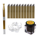 Tattoo Kits Microblading Permanent 3D Makeup Eyebrow Tattoo Needle Pen Pigment Kit  G61108