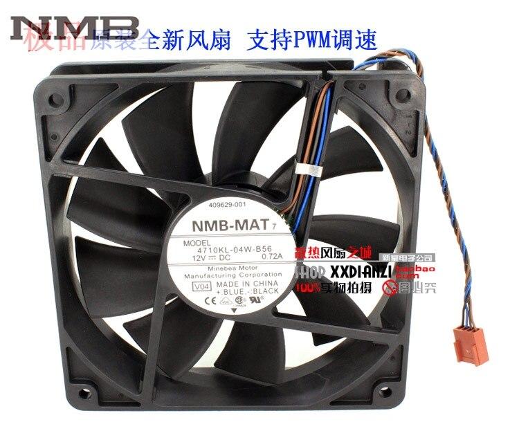 4710KL-04W-B56 NMB 12 cm 12025 120mm 0.72A fili PWM caso industriale assiale ventole di raffreddamento