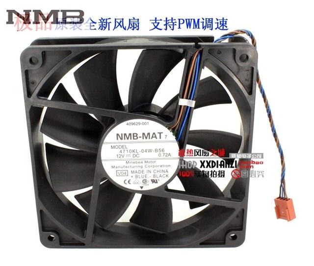 NMB 4710KL 04W B56 12cm 12025 120mm 0.72A 4 wire PWM industrial case ...