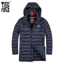 TIGER KRAFT Männer Fashion Gepolsterte Jacke Winter Warme Polyester Langen Mantel biobasierte Baumwolle Mantel Marke Herbst Jacke Freies verschiffen