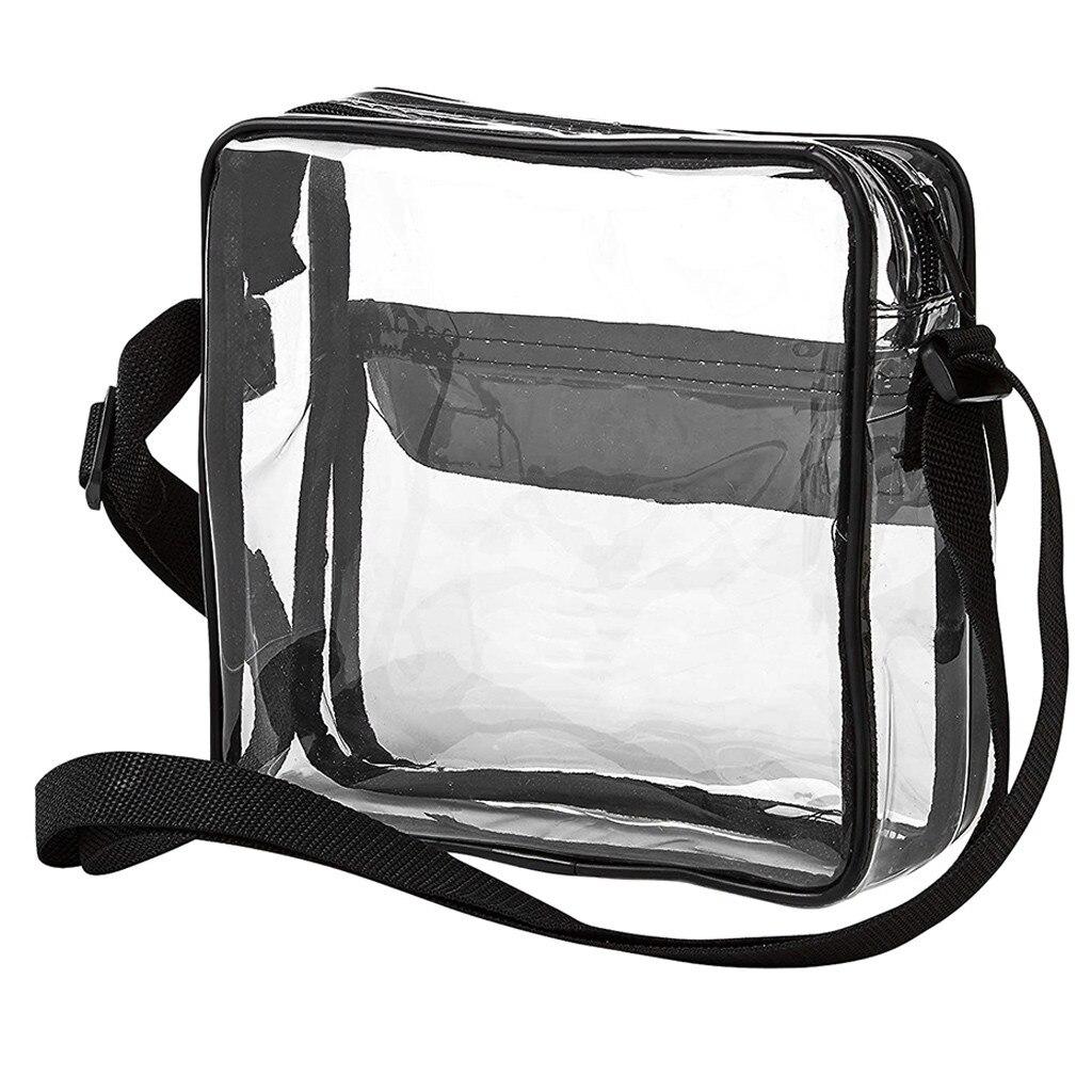 Clear Crossbody Messenger Shoulder Bag with Adjustable Strap NFL Stadium Approved Transparent Purse 1