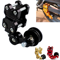 New Black Adjustable Aluminum Chain Tensioner Bolt On Roller Motorcycle Chopper ATV Dirt Bike Universal Fit