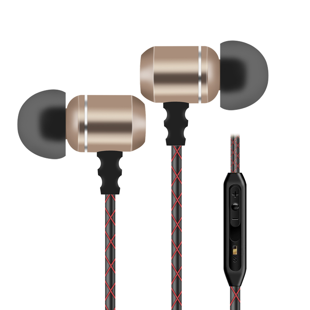 KST-x8 In-Ear Earphone With Mic & Volume+- Button & Metal Earbuds | Music Pause/Switch & Handsfree Call For Android/IOS Phone PC kst x2 in ear stereo earphone with metal earbuds