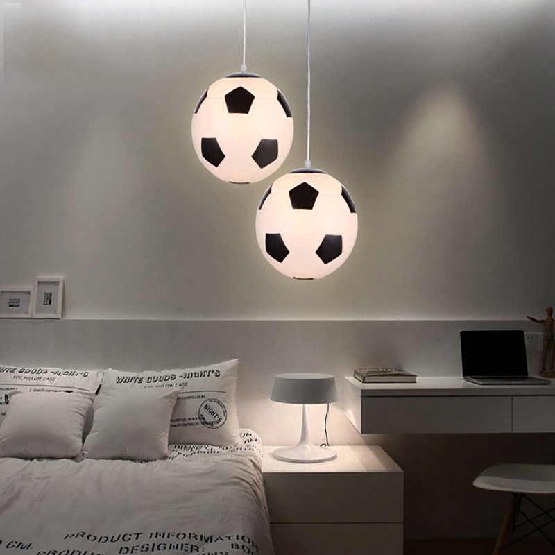 Modern Children Room LED Pendant Lights Glass Football Shaped Pendant Lamps Living Room Lovely Light Decoration Kitchen FixturesModern Children Room LED Pendant Lights Glass Football Shaped Pendant Lamps Living Room Lovely Light Decoration Kitchen Fixtures