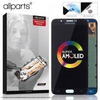 5.7 Оригинальный тачскрин дисплей экран для SAMSUNG Galaxy A8 сенсорный дисплей Оригинал LCD с тачскрином в рамке замена запчасти A8000 A800 A800F Черный бел