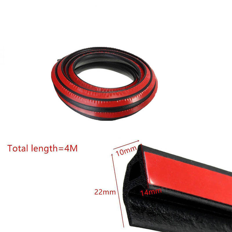 4 M 3M Auto Rubber seals Car Door Seal Strip P Type Rubber Seal Noise Insulation Anti-Dust Soundproof Car Door Sealing Strips (4)