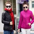 2016 de moda de nova mulheres jaqueta de inverno longo casaco fino feminino engrossar parka algodão clothing red clothing casaco longo das mulheres