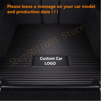 For toyota fortuner 2016 waterproof car styling auto accessories Leather Custom Car Trunk Mat