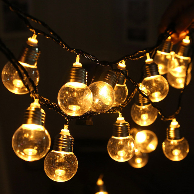 Aliexpress buy led globe bulb string lights christmas led globe bulb string lights christmas decoration 6m 20 balls 220v 110v indoor outdoor wedding garden audiocablefo