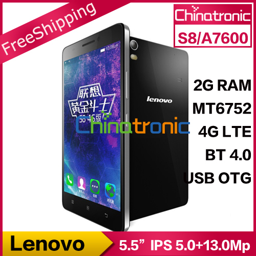 "Цена за Предварительно Продажа Оригинал LENOVO S8 A7600 4G LTE ANDROID 5.0 Мобильного Телефона MTK6752m Окта основные Dual SIM 5.5 ""HD 2 Г RAM 8 Г ROM 13MP OTG"