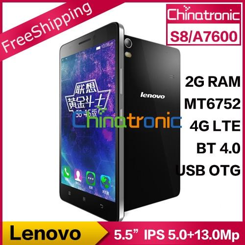"Pre Sale Original Lenovo S8 A7600 4G LTE Android 5.0 Mobile Phone MTK6752m Octa Core Dual SIM 5.5""HD 2G RAM 8G ROM 13MP OTG"