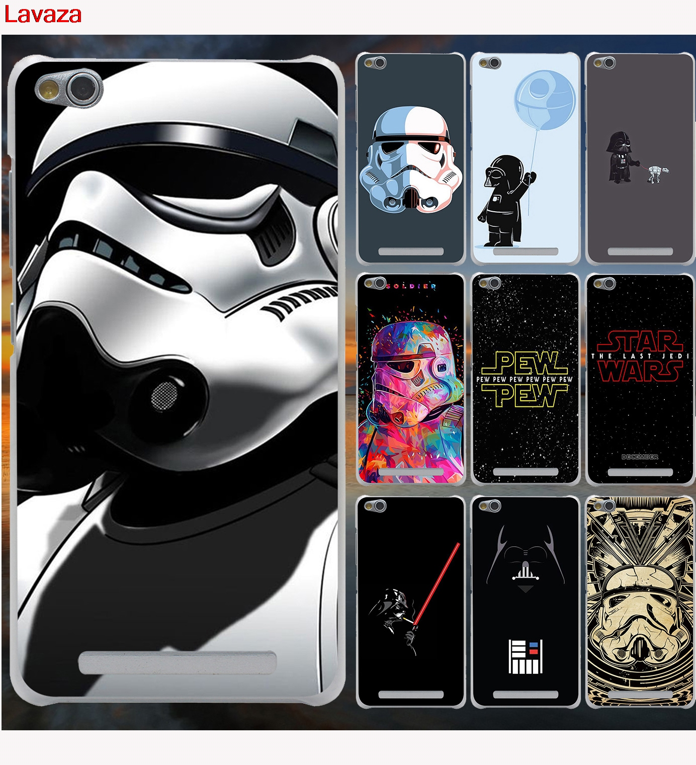 Lavaza star wars logo Case for Xiaomi Redmi 3 3S 4 6 Pro S2 4A 5A 5 Plus Note 5A Prime Note 3 5 Pro 4 4X Cover in Half wrapped Case from Cellphones