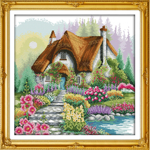 Everlasting love Flower home Chinese cross stitch kits Ecological cotton printed 11 14CT DIY new year Christmas decorations gift