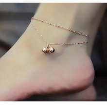 Rose Gold Bell Summer Style Chain Ankle Bracelet Anklet CA009