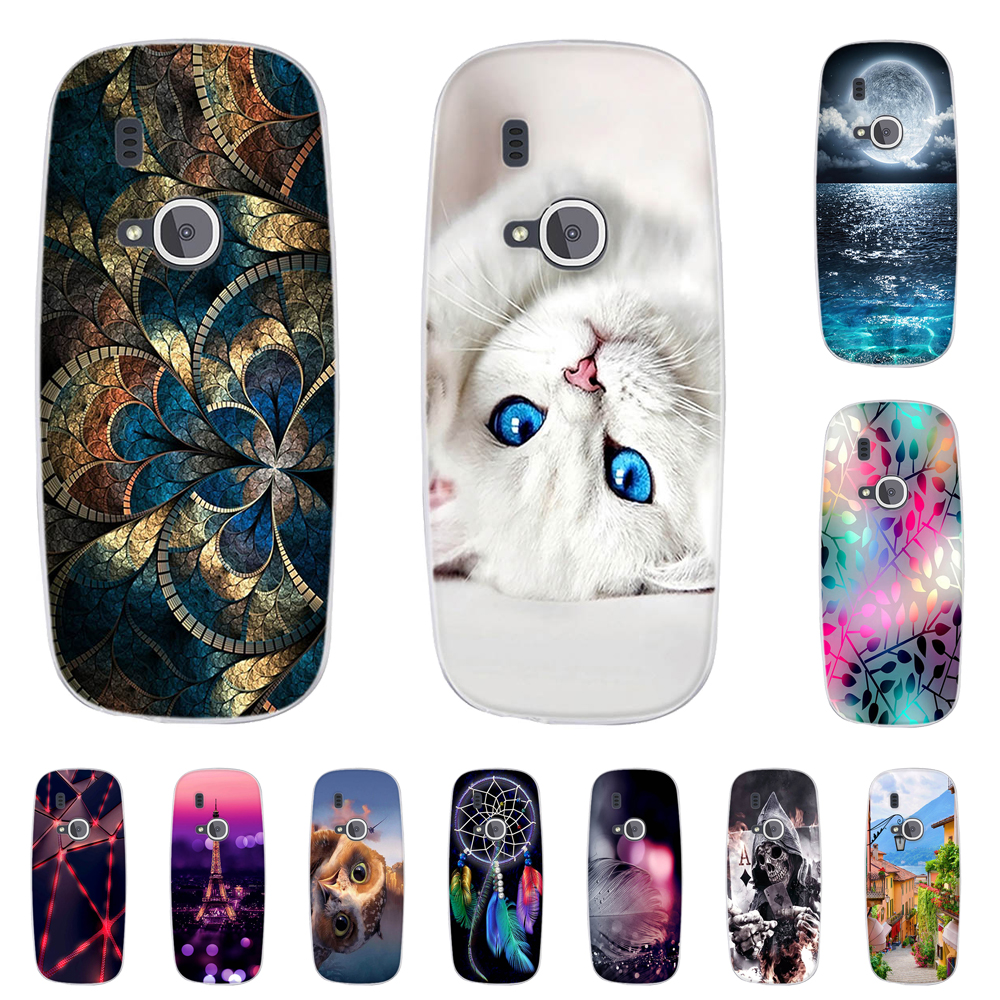 <font><b>Case</b></font> for <font><b>Nokia</b></font> <font><b>3310</b></font> 2017 <font><b>Case</b></font> Cover Soft TPU Silicon Cat Pattern Phone Cover for <font><b>Nokia</b></font> <font><b>3310</b></font> 2017 Cover Capas Fundas Coque image