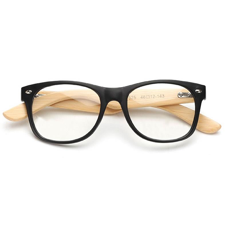 LVVKEE merek Kayu Bingkai wanita Mens datar cermin kacamata Baca - Aksesori pakaian - Foto 5