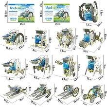Крутой 13 в 1 робот, работающий от солнечной энергии Набор DIY игрушка на солнечной энергии ed игрушка Трансформация Робот набор развивающий подарок игрушки для детей мальчик