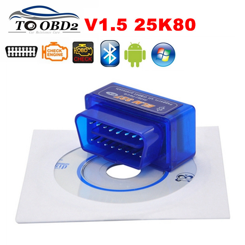 FREE SHIP 50pcs Lot Mini Tester OBD 2 Auto Diagnostic Scanner Original V1 5 Super Mini