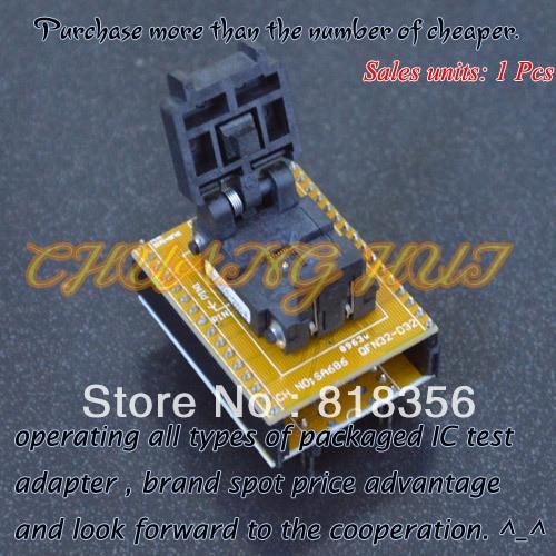 IC TEST SA686/QFN32 to DIP32 Programmer Adapter WSON32 DFN32 MLF32 test socket Pitch=0.5mm