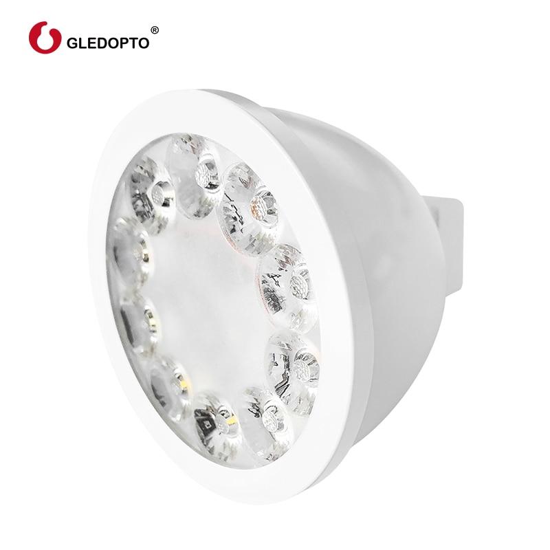 Image 5 - GLED0PTO ZIGBEE Mr16 led spotlight 4W RGB/CCT LED BULB DC12V work with smartthins zigbee hub echo plus smart phone control light-in LED Bulbs & Tubes from Lights & Lighting