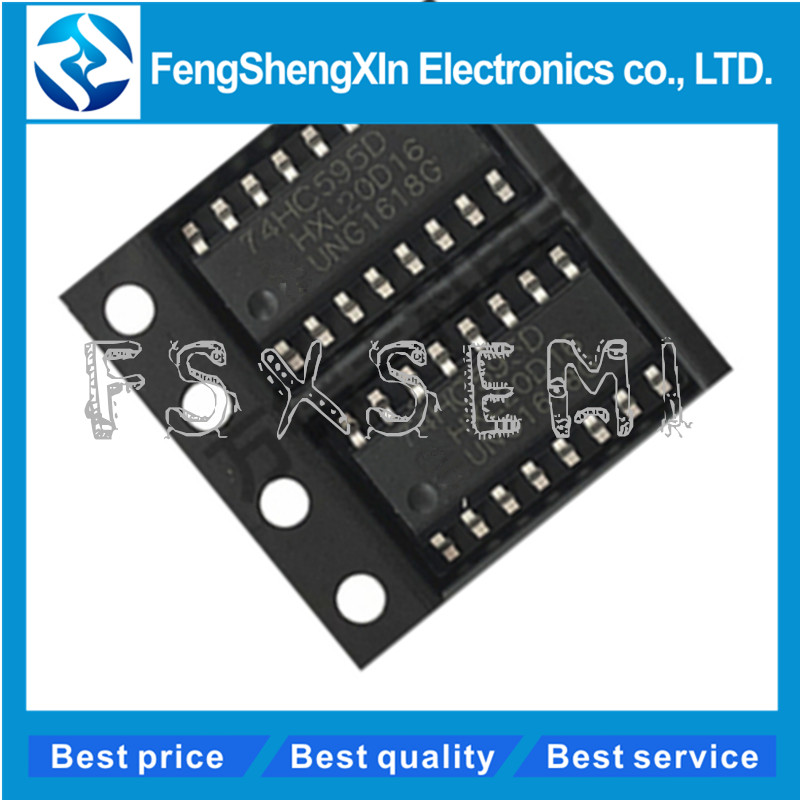 10pcs/lot  New 74HC595D SOP-16 74HC595 SN74HC595D Logic Chip Register IC