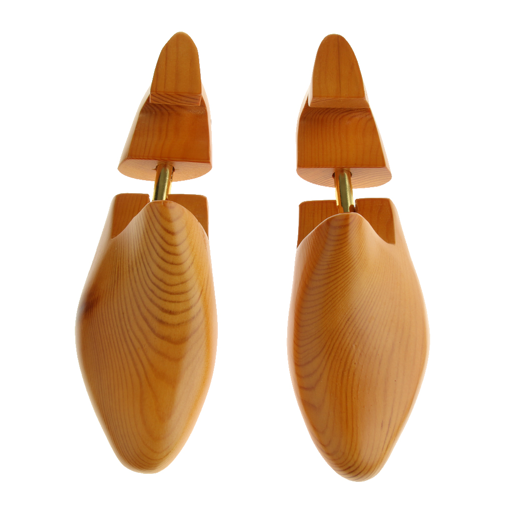 1 Pair Womens Mens Adjustable Cedar Wood Shoe Rack Tree Shoe Shaper Keeper Wooden Keeper Stretcher Shoe Trees