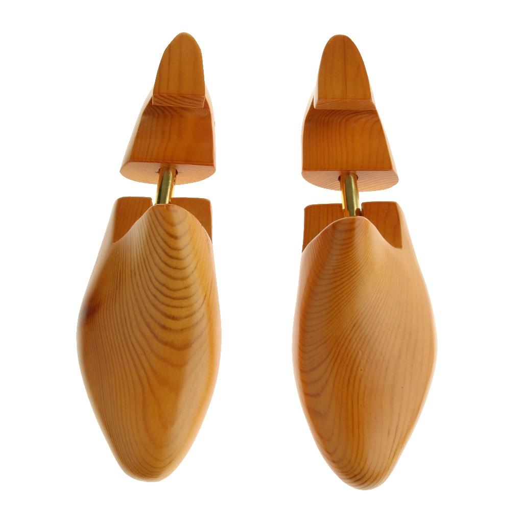 Adjustable Wood Shoes Tree Stretcher Utility Shoes Shaper US 8-14 Men