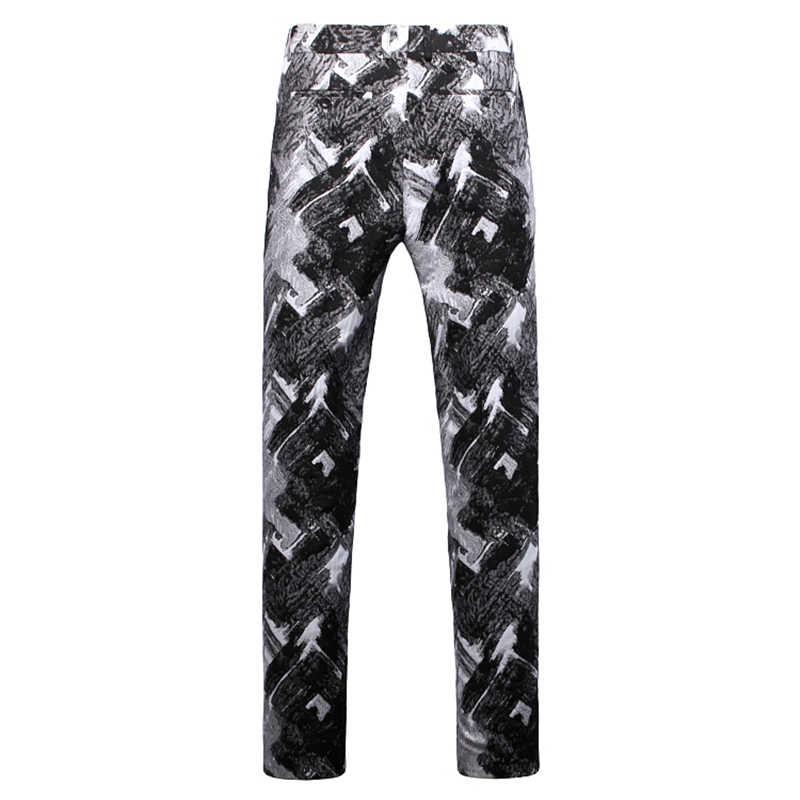 黒と白の男性ブレザージャケットとパンツ & ベストスリムのメンズドレス 3 点セットアジアサイズ s-5XL