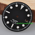 Watch Parts, Corgeut 30.4mm Black Sterile Watch Dial White Marks for Unitas ETA 2824 2836 Automatic Movements
