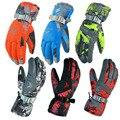 Men Women Ski Gloves Winter Waterproof Anti-Cold Warm Gloves Outdoor Sport Snow Sportswear Skiing Gloves luvas free shipping