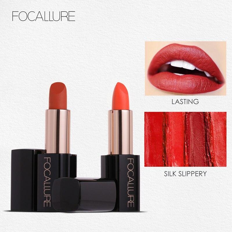 Nuevo pintalabios Focallure 20 colores crema suave lápiz labial hidratante labios de larga duración maquillaje señora belleza maquillaje cosmético