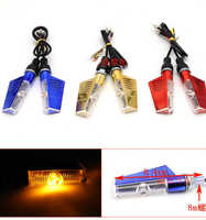 Currency CNC aluminum alloy Motorcycle steering LED motorcycle lighting retrofit cornering lights 12V motorcycle turn signals