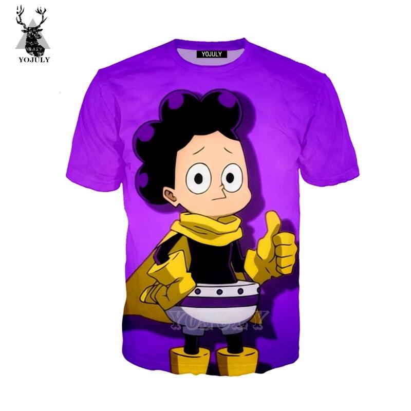 YOJULY 3D Print Unisex Anime My Boku No Hero Academia Mineta Minoru Grape Juice T-shirt/Sweatshirt/hoodies/Jacket Coat A247