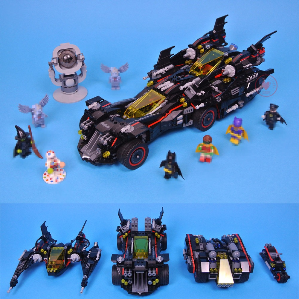 New super heroes Batman movie Ultimate Batmobile fit legoings batman figures Model Building Block Bricks 70917 gift kid diy Toys building blocks star sapphire gold batman indigo tribe batman super heroes star wars bricks kids diy toys hobbies pg8076 figures