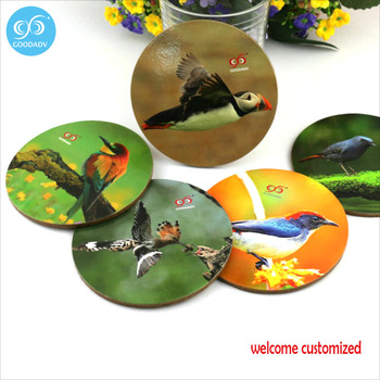 Eco-friendly materials 5 designs a set natural birds theme coasters custom  heat resistant coffee coasters order 3 sets