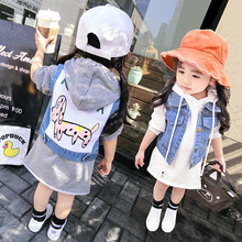 Girls Sleeveless Jean Jackets For Kids Children Outerwear 2-8Years Kids Denim Cartoon Fashion Coat Girl & Boys Cowboy Vest недорого