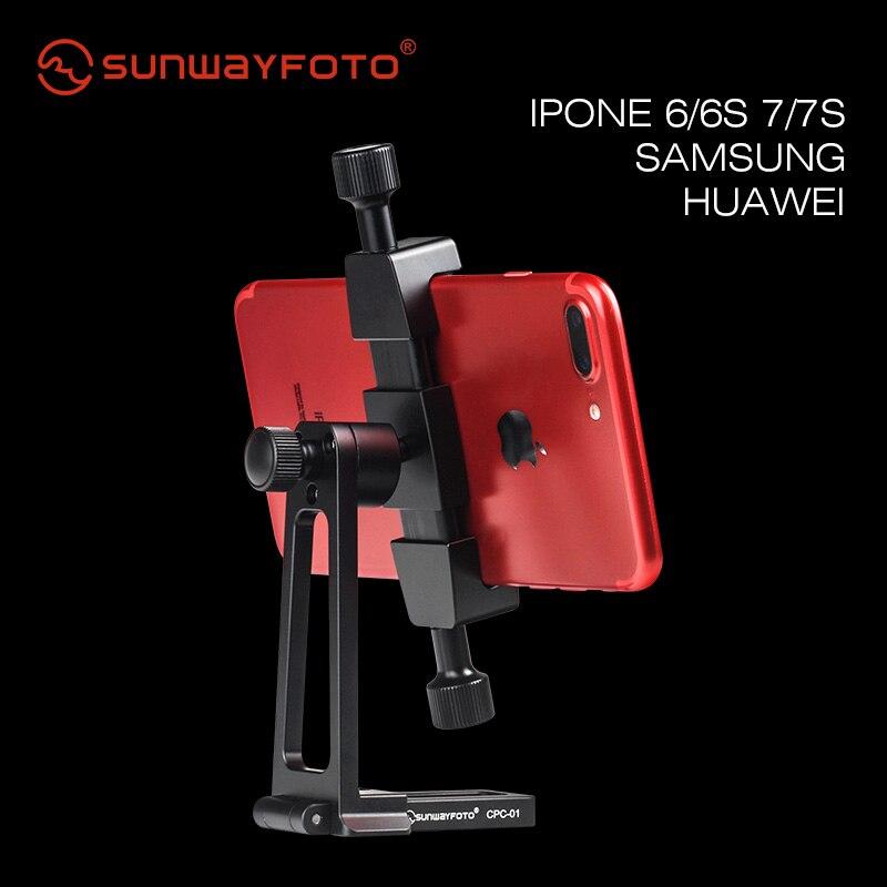 SUNWAYFOTO CPC-01 Аксессуары для мобильных телефонов профессиональный стол и подставка Профессиональный штатив шаровая Головка держатель для телефона кронштейн