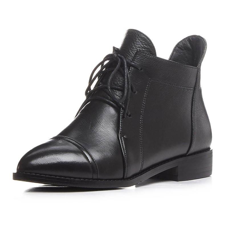 ФОТО woman party shoes sexy zapatos mujer full grain leather ankle boots ladies woman shoes  point toe Spring/Autumn