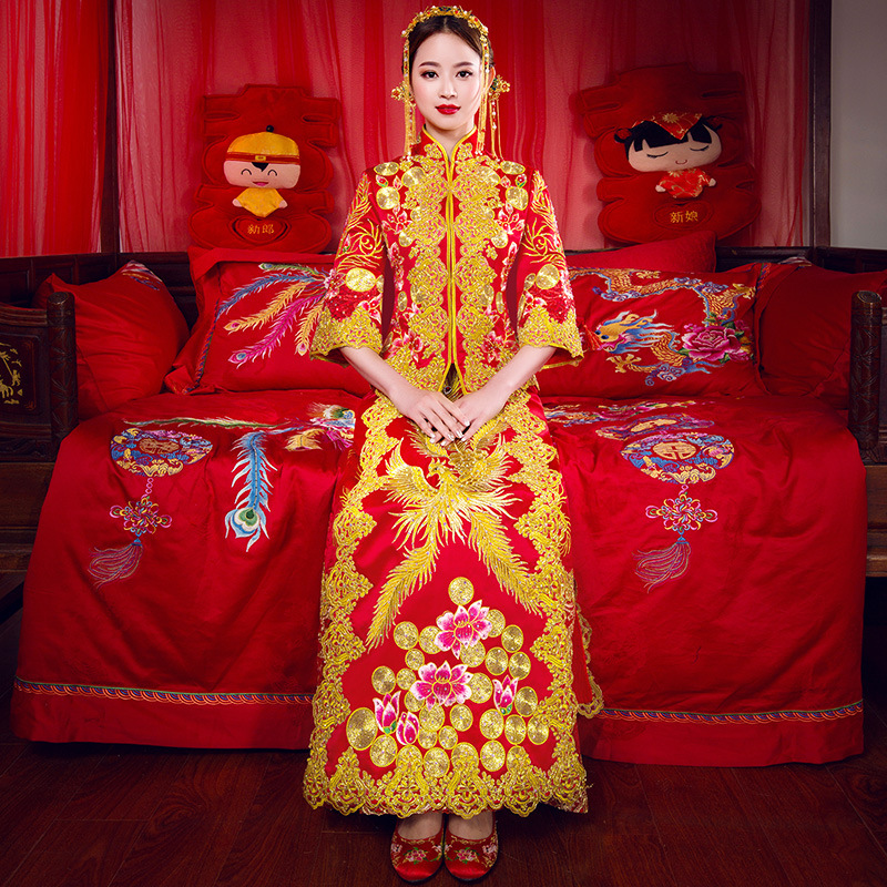 Best Seller High Quality Chinese Traditional Wedding Dress