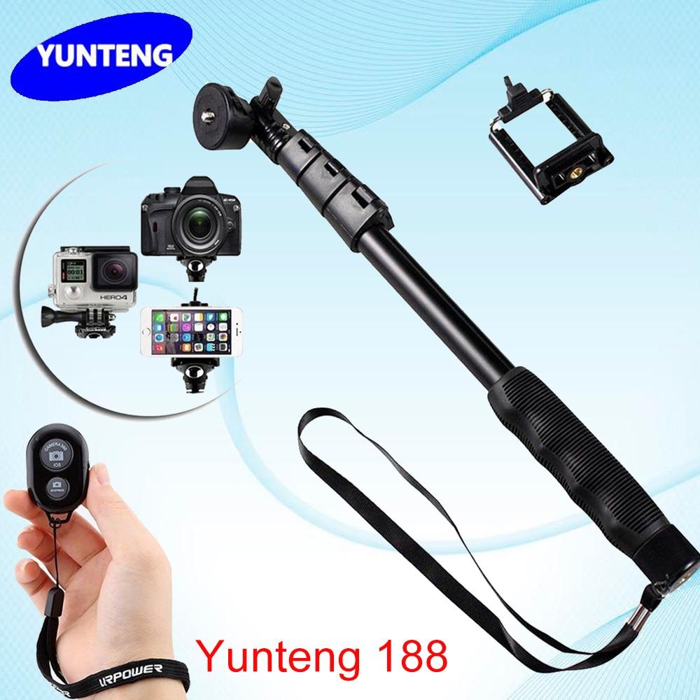 for gopro go pro hero4 3 2 xiaomi sjcam yunteng 188 portable extendable handheld telescopic. Black Bedroom Furniture Sets. Home Design Ideas